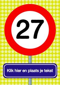Verjaardagskaarten - Verkeersbordkaart zelf wijzigen