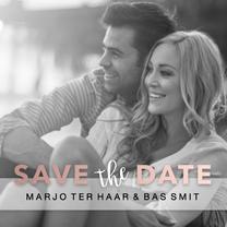 Trouwkaarten - Verlovingskaart Marjo & Bas - DH