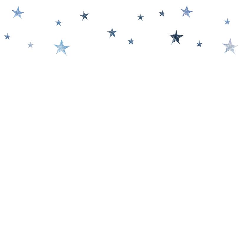 Vierkante blauwe kerstkaart foto ster 2