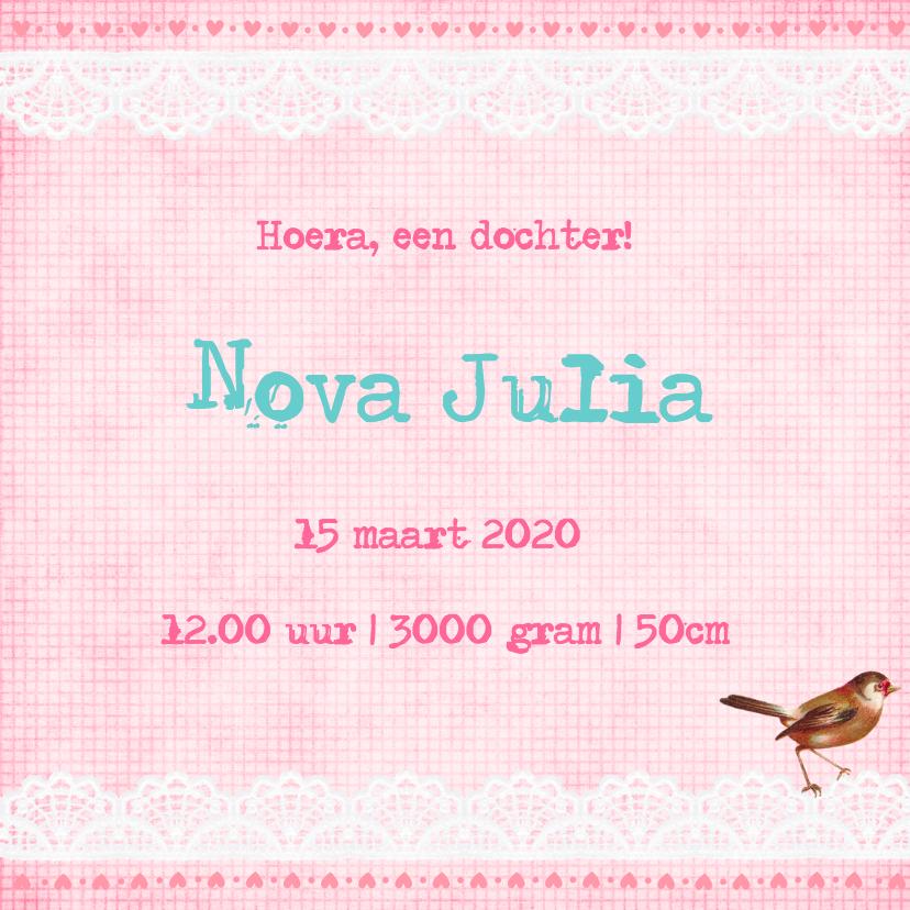 Vintage Geboortekaartje Nova 3