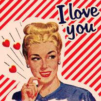Valentijnskaarten - Vintage I Love You