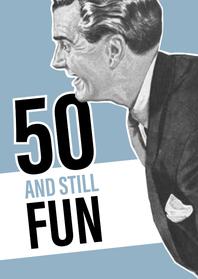 Verjaardagskaarten - Vintage man 50