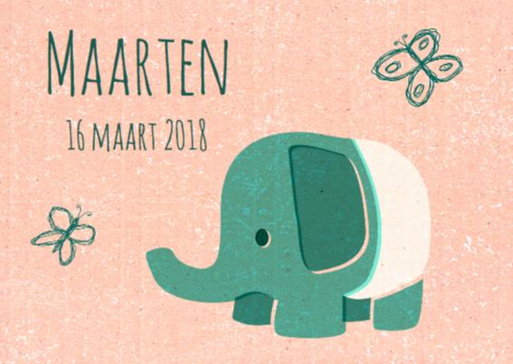 Vintage olifantje groen 2