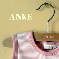 Geboortekaartjes - vintage romper girl Anke