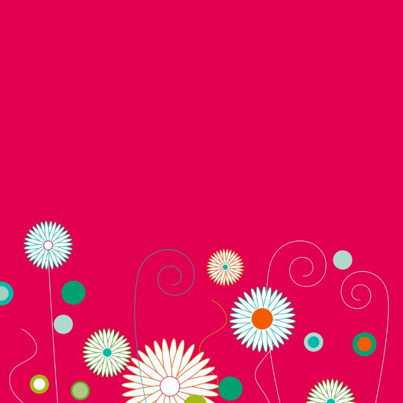 Vlinder bloemen knalroze 2