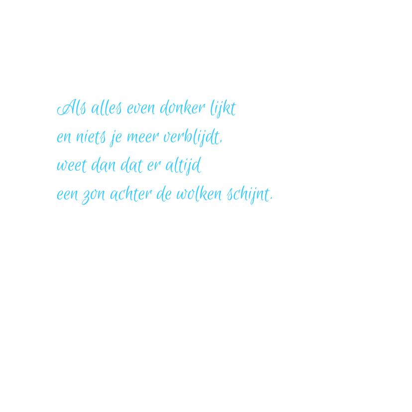 Vlinder condoleancekaart blauw 3