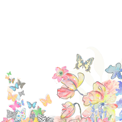 Vlinders en bloemen verjaardags 2