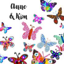 Zomaar kaarten - vlinders en vlinders