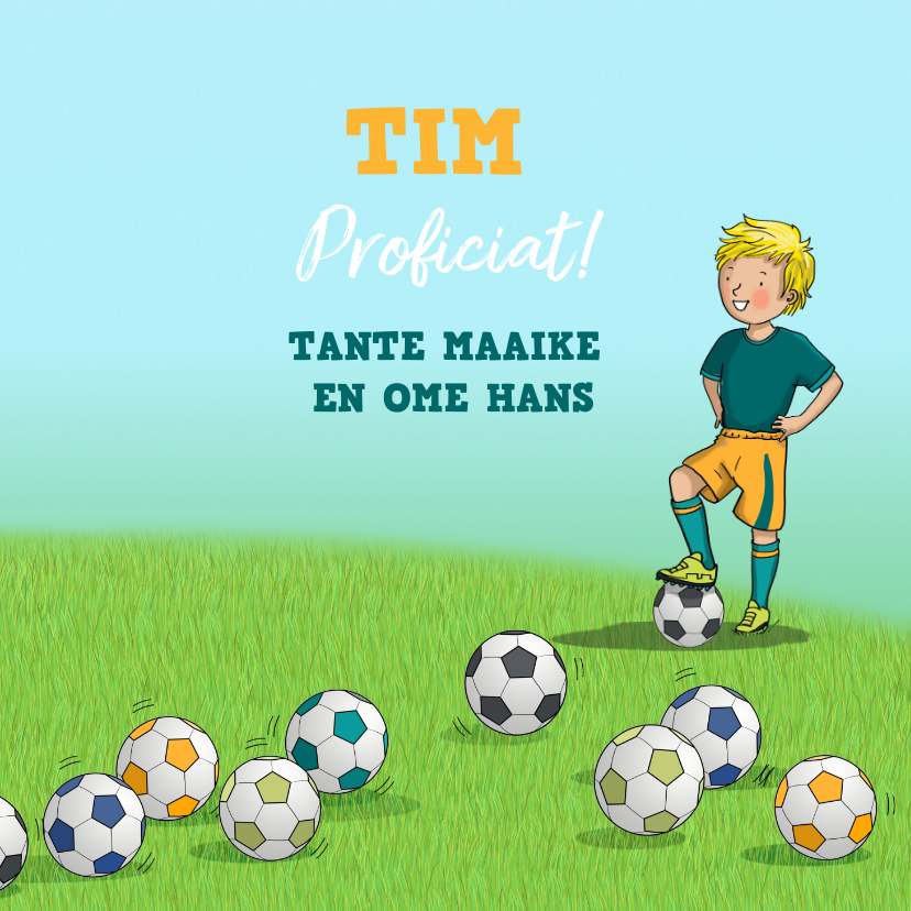 Voetbal kaart Anet Illustraties 3