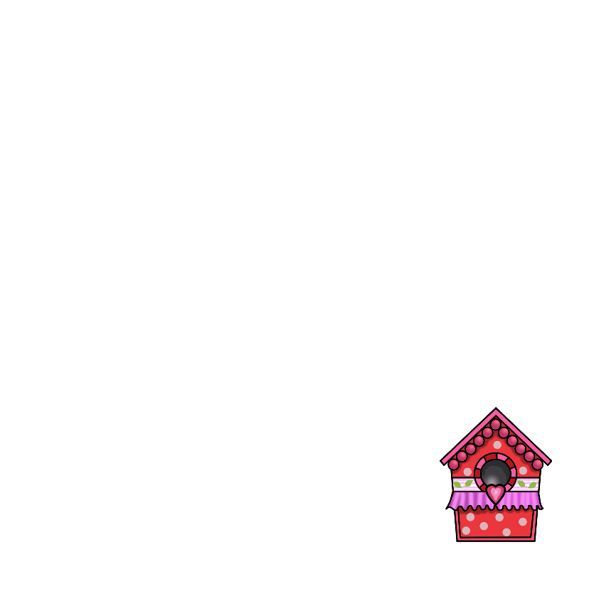 Vogelhuisjes kleuren vierkant 3