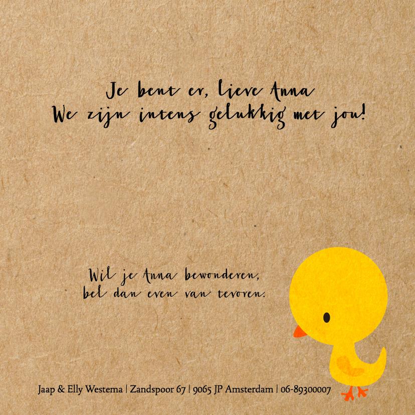 Vogeltje geel meisje 3
