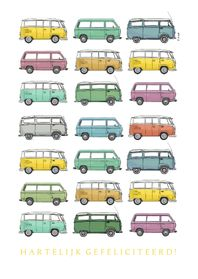 Verjaardagskaarten - Volkswagen bus T1 T2 T3