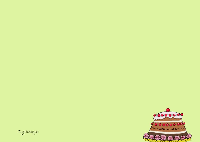 Voor de jarige is er taart! 3