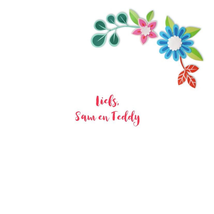 voor de liefste oma bloemenrand 3