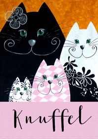 Vriendschap kaarten - Vriendschap kaart katten knuffel