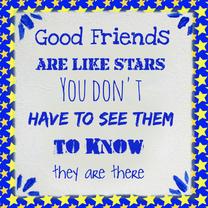 Vriendschap kaart Ster PA