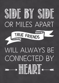 Vriendschap kaarten - Vriendschapkaart True friends