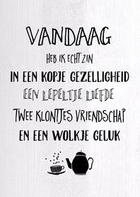 Vriendschap kaarten - Vriendschapkaart Wolkje geluk