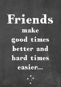 Vriendschapskaart Good times