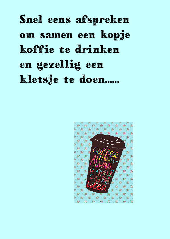 Vriendschapskaart koffie PA 2