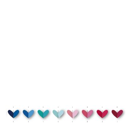 Vrolijk geboortekaartje 31 hartjes 3