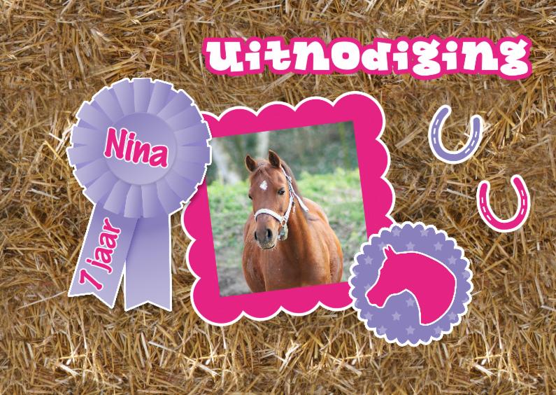 Extreem Vrolijk paardenfeestje - Kinderfeestjes - Kaartje2go &NC53