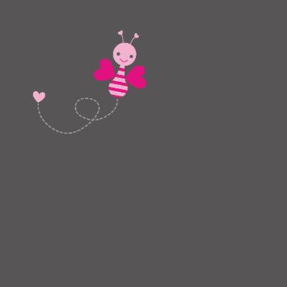 Vrolijk roze vlindertje 2