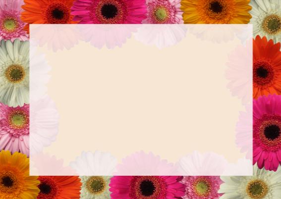 Vrolijke bloemen kaart 3