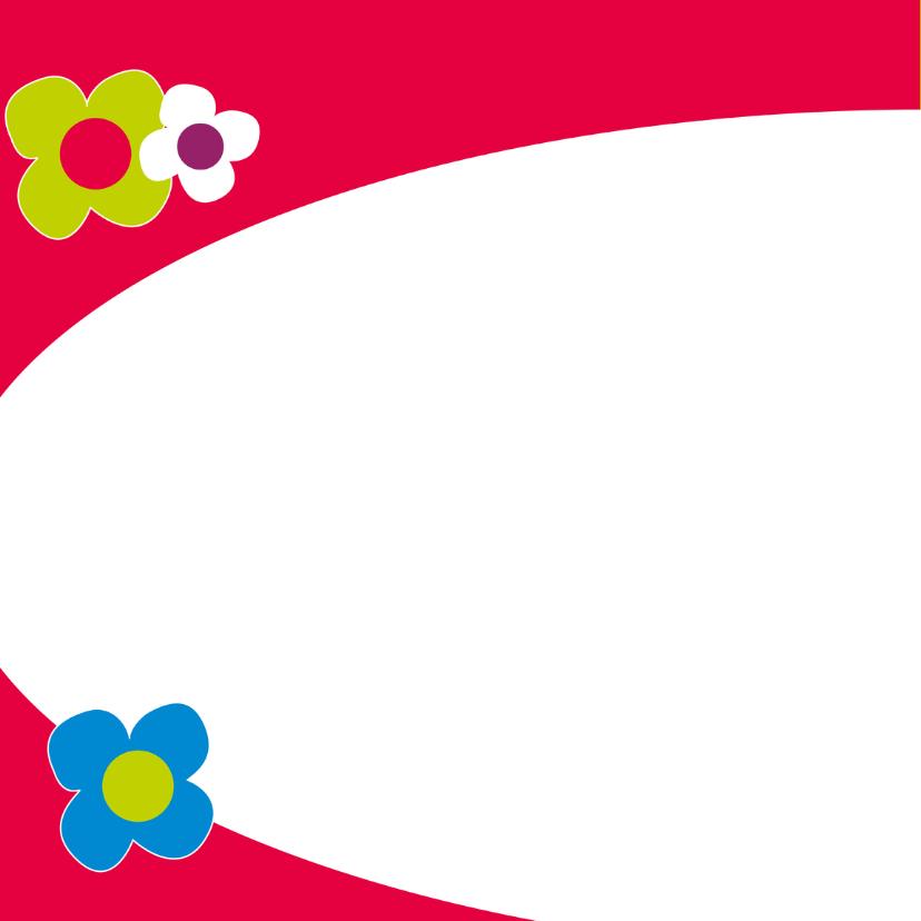 Vrolijke bloemenkaart - SZ 2