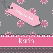 Geboortekaartjes - vrolijke geboortekaart 61 bloemen