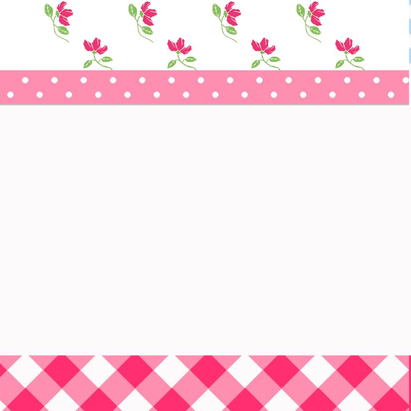 Vrolijke happy flowers kaart 2