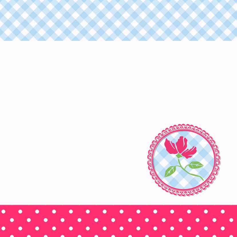 Vrolijke happy flowers kaart 3