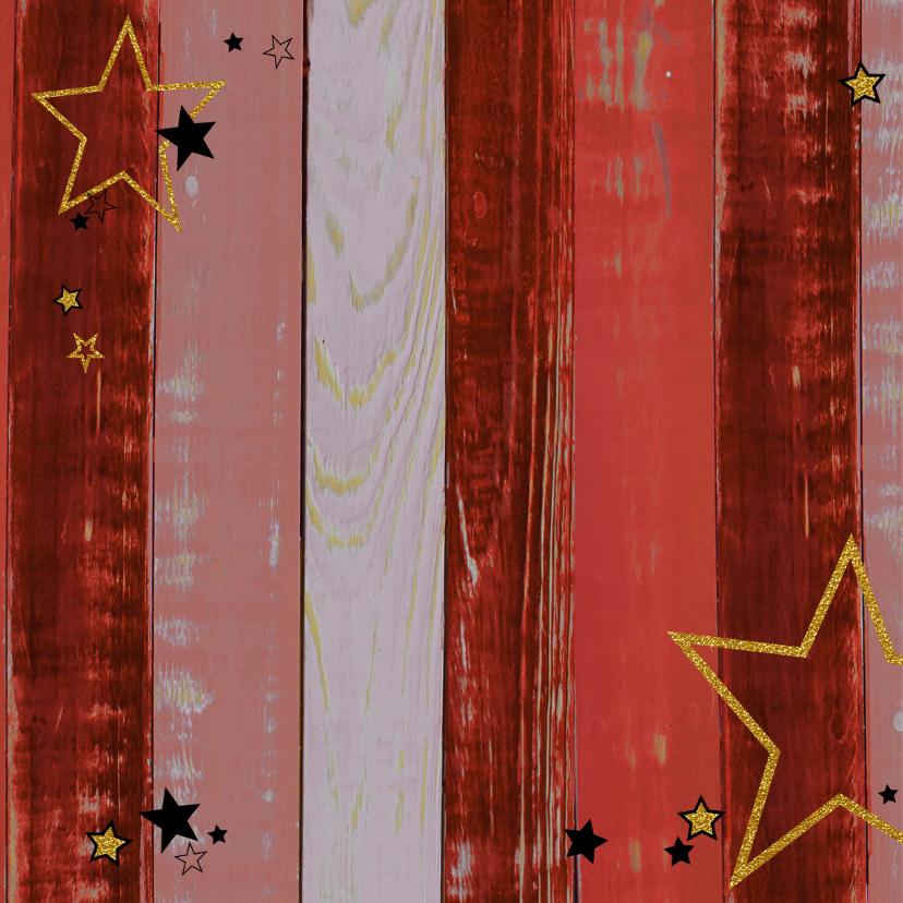Vrolijke uitnodiging rood ster 2