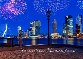 Nieuwjaarskaarten - Vuurwerk in Rotterdam