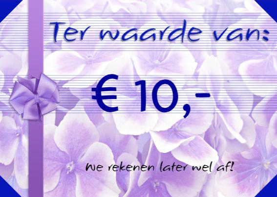 Waardebon Tegoedbon 10 euro 3