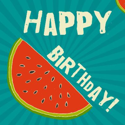 Watermeloen verjaardag 2