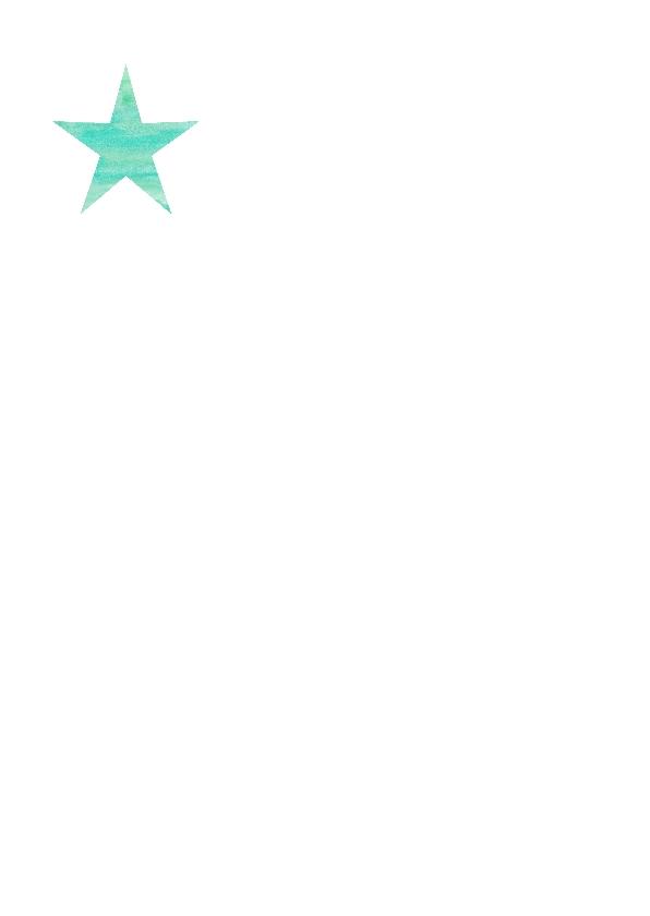 Waterverf nieuwjaarskaart met stippen en ster 2