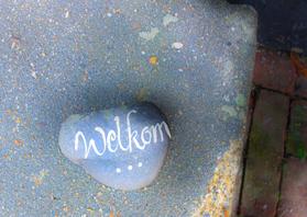 Uitnodigingen - Welkom steen voor ingang huis