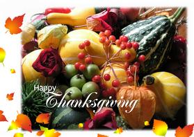 Wenskaarten divers - wenskaart Happy Thanksgiving