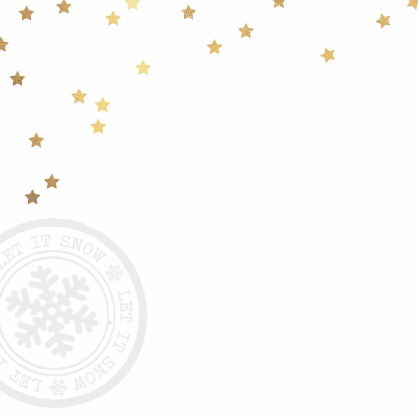 Winterse kerstkaart sterren foto 2