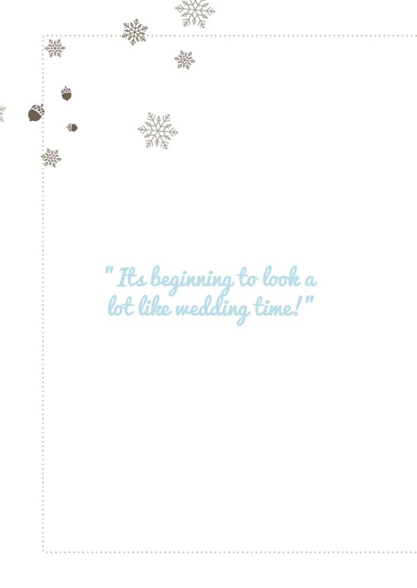 Winterwedding | trouwkaart winters 2