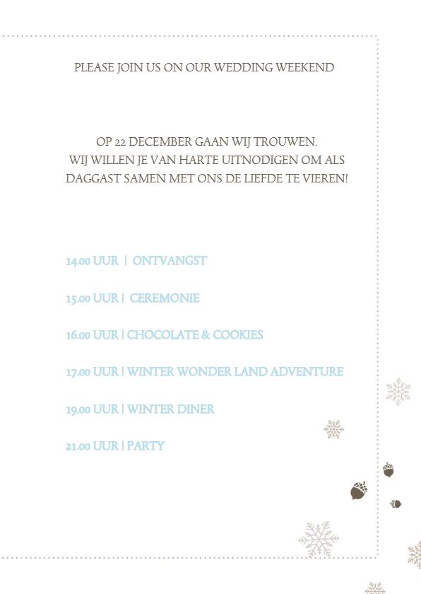 Winterwedding | trouwkaart winters 3