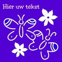 Zomaar kaarten - Witte vlinders en bloemen
