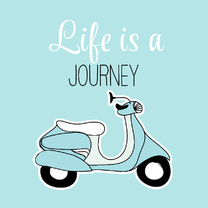 Woonkaart - Life is a journey - scooter