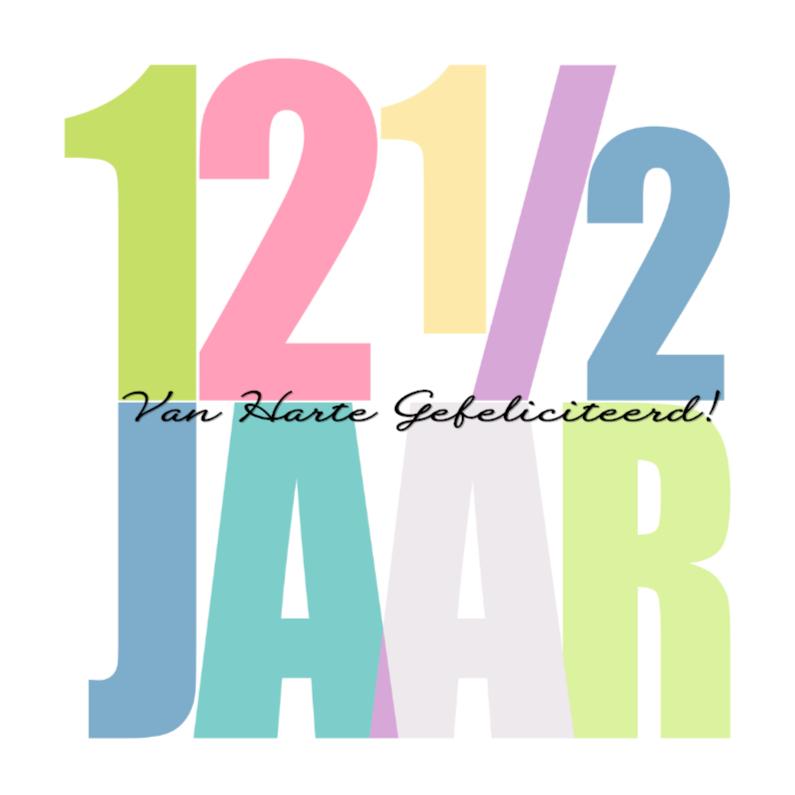 121 2 jarig jubileum Woorden 12 1/2 Jaar    Felicitatiekaarten | Kaartje2go 121 2 jarig jubileum
