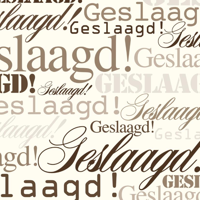Woorden - Vintage Geslaagd! - BK 2