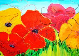Bloemenkaarten - Wuivend langs de kant van de weg