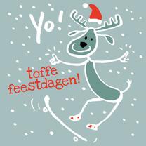 Kerstkaarten - Yo! Rendier met goede wens