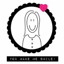 Vriendschap kaarten - You make me smile!