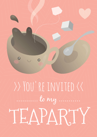Uitnodigingen - You're invited to my teaparty